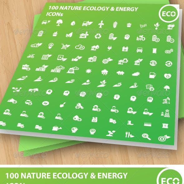 100 Ecology & Energy Icons