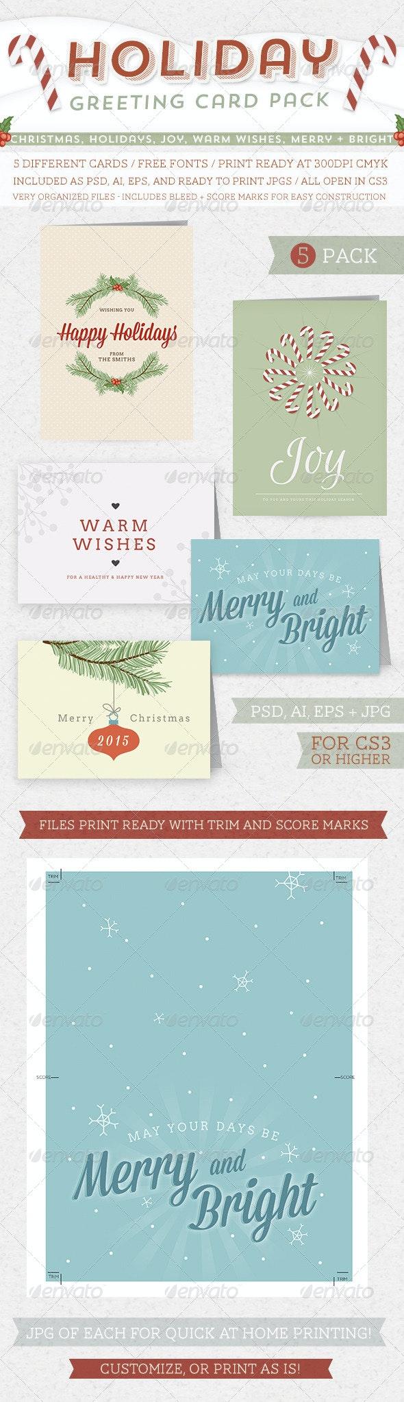 Holiday Greeting Card Pack - Holiday Greeting Cards
