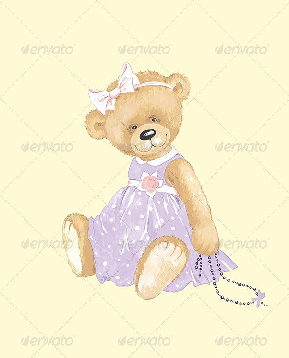 Elegant Teddy Bear. - Retro Technology
