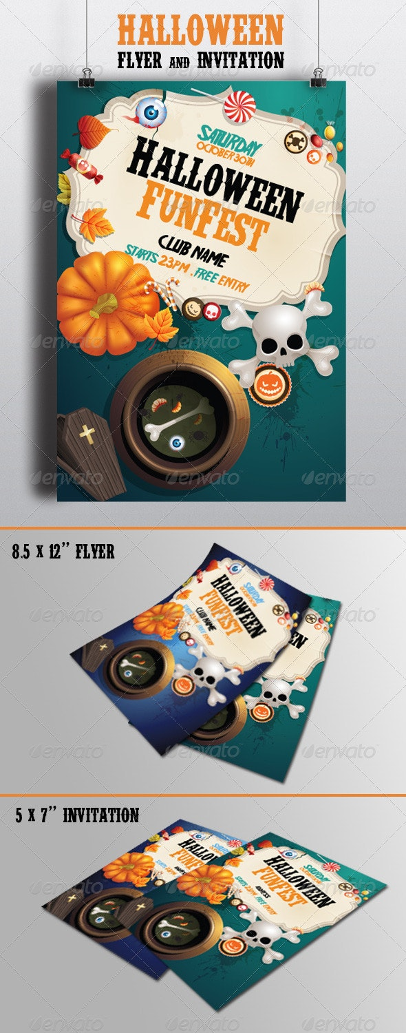 Halloween Flyer & Invitation 3 - Clubs & Parties Events