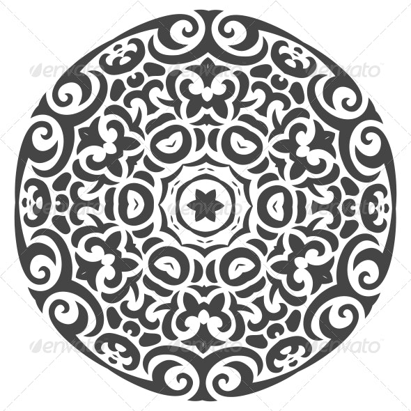Abstract Vector Ornament in Tribal Style - Patterns Decorative