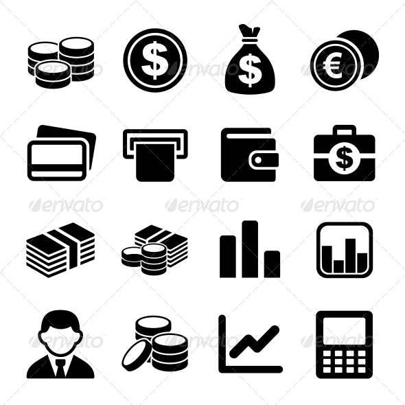 Money icon set - Business Icons