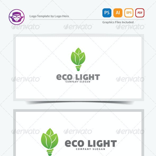 Eco Light Logo Template