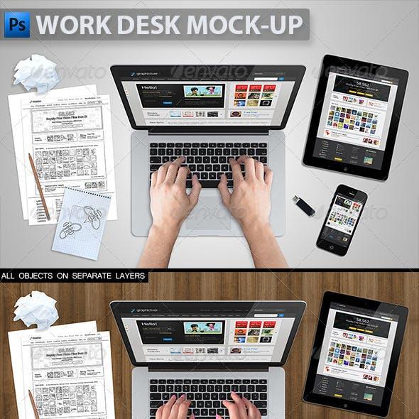 Work Desk Mock-up