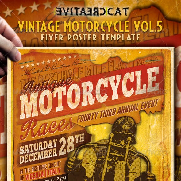 Vintage Motorcycle Flyer/Poster Vol. 5