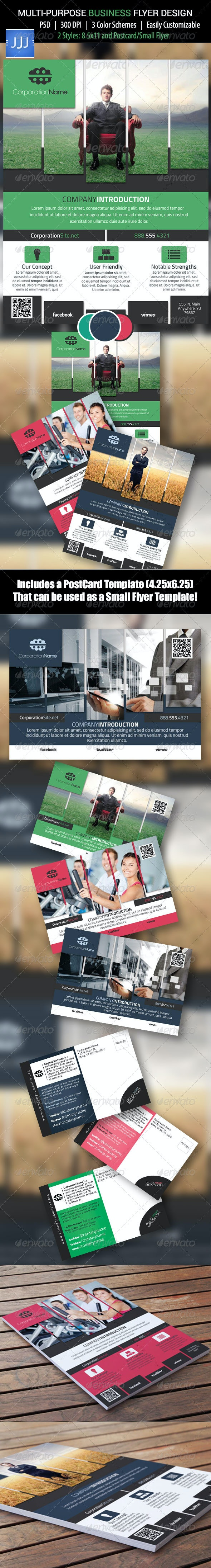 Business Flyer 14 with Postcard - Corporate Flyers