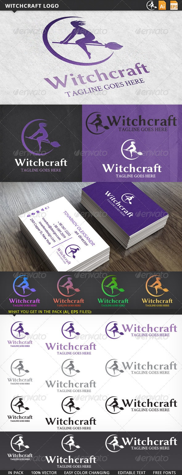 Witchcraft Halloween Logo Template - Humans Logo Templates