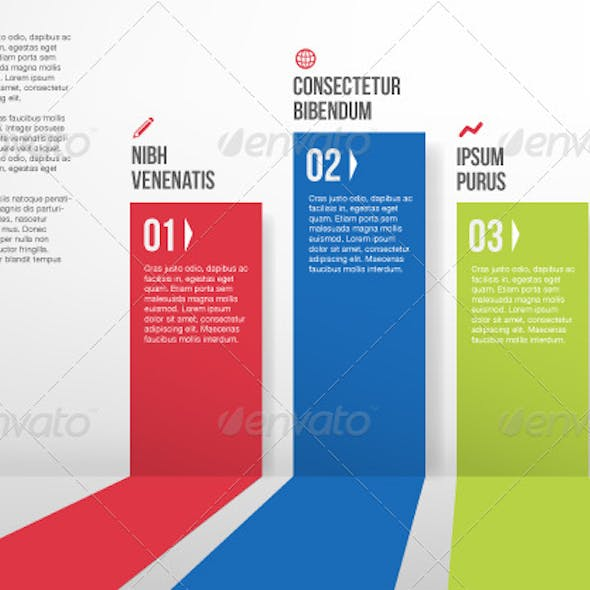 Abstract Colorful Paper Stripe Infographics