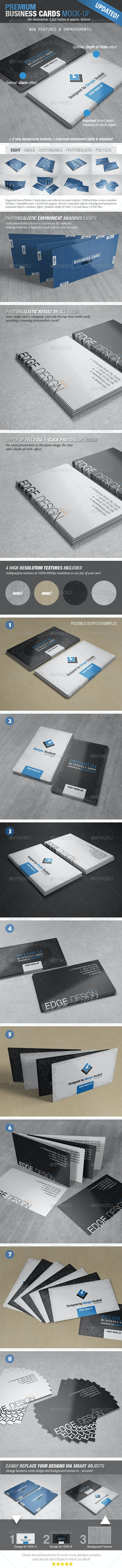 Premium Business Cards Mock-Ups - Business Cards Print
