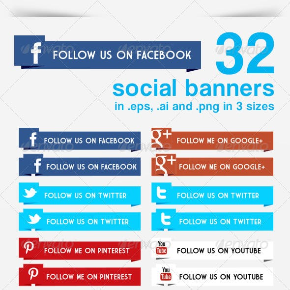 32 Social Banners