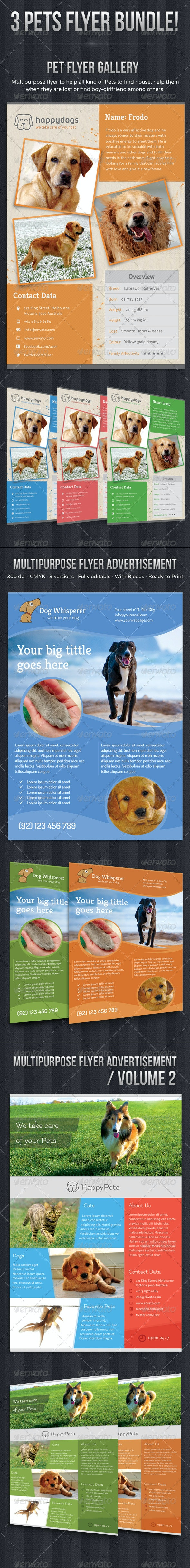 Pets Flyer Bundle - Flyers Print Templates