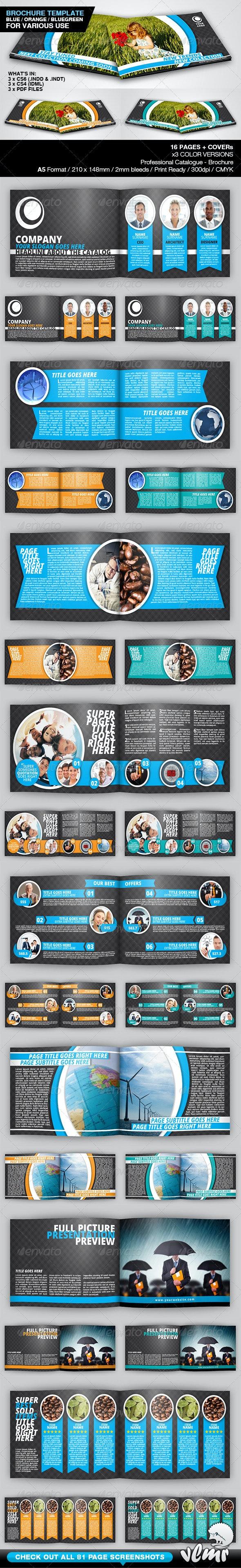 Universal A5 Brochure / Catalog Template - Corporate Brochures