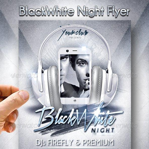 BlackWhite Night Flyer