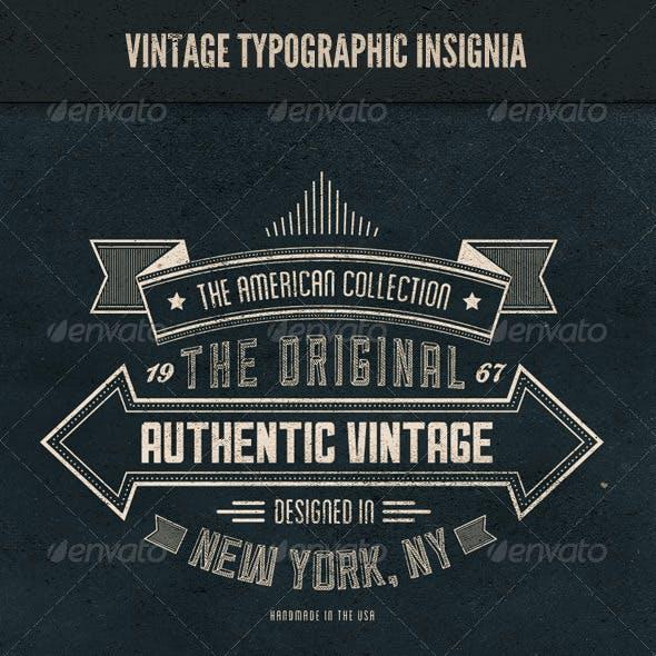 Vintage Typographic Insignia