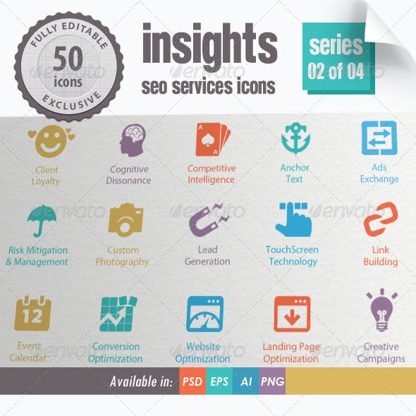 Insights SEO Services Icons - Series 02 of 04