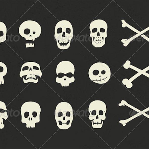 Skulls and Crossbones Halloween Pack
