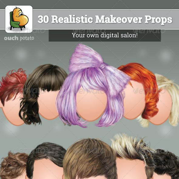 30 Realistic Makeover Props