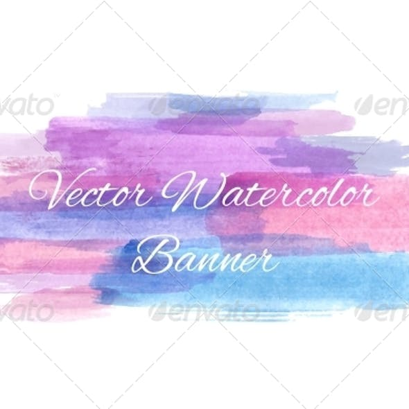 Abstract Watercolor Banner