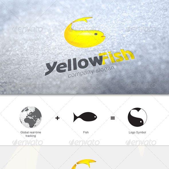 Yellow Fish Logo Template