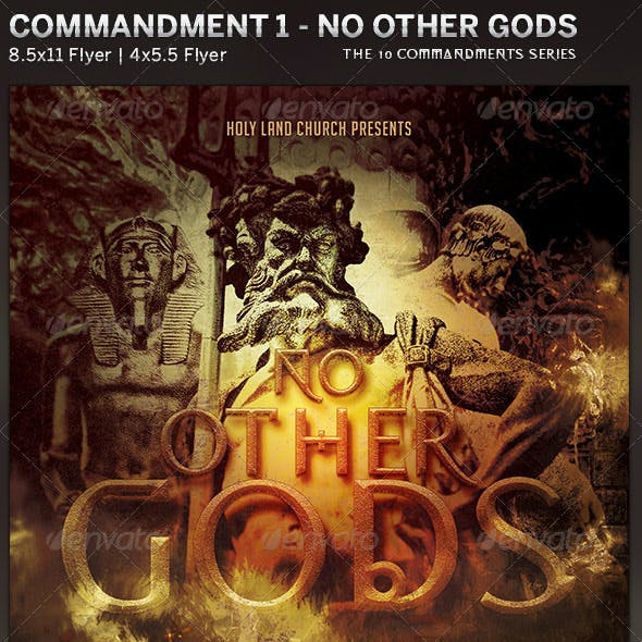 No Other Gods: Church Flyer Template