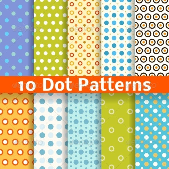 Different Dot Seamless Patterns