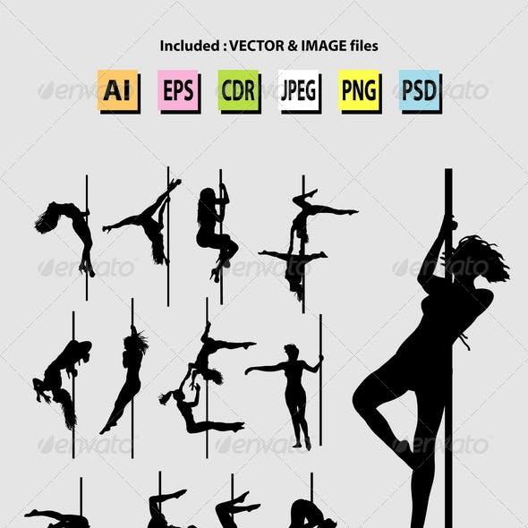 Pole Dance Silhouettes