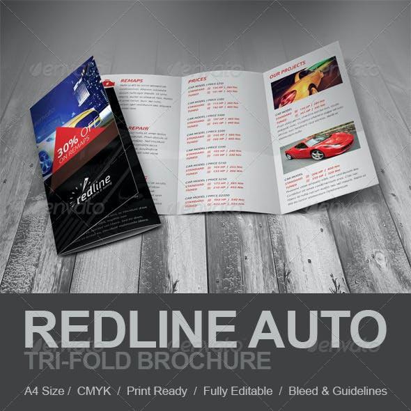 Redline Auto Tri-fold Brochure
