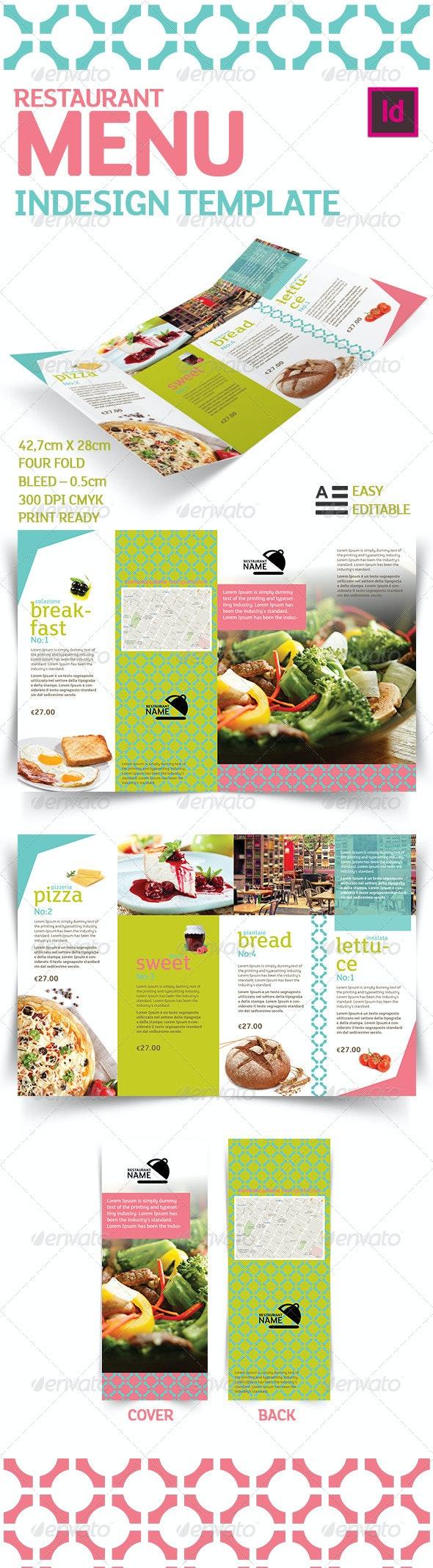Restaurant Menu Indesign Template - Food Menus Print Templates