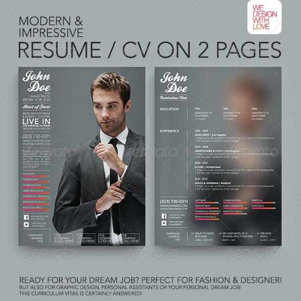 Resume/CV | Fashion & Design