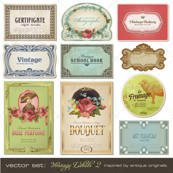 Vintage Labels (Set 2)