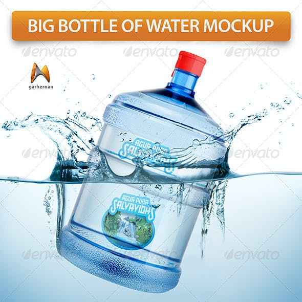 Big Bottle of Water Mockup