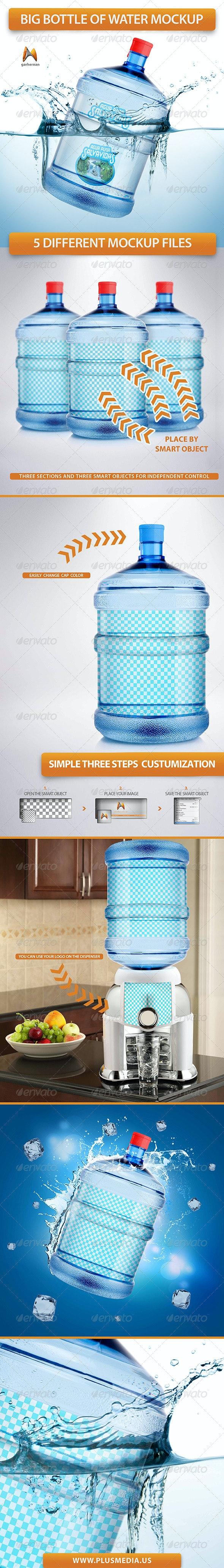 Big Bottle of Water Mockup - Product Mock-Ups Graphics