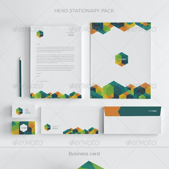 Modern Hexo Stationary Pack