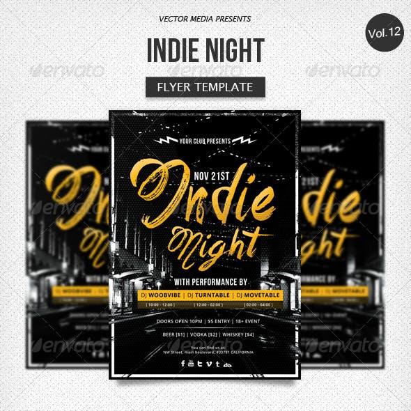 Indie Night - Flyer [Vol.12]