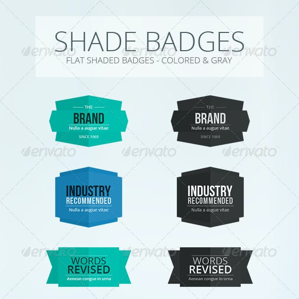 Shade Flat Badges