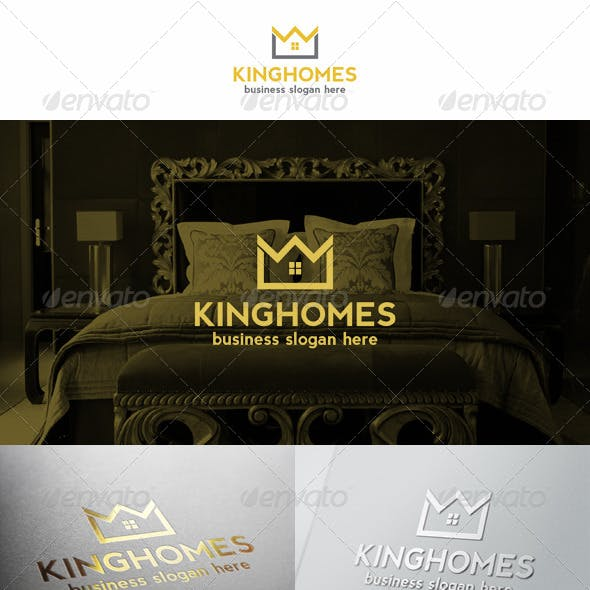 Home Crown Logo King Estate Royal Property
