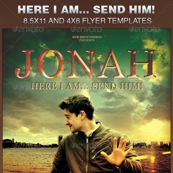Here I am... Send Him! Church Flyer Template