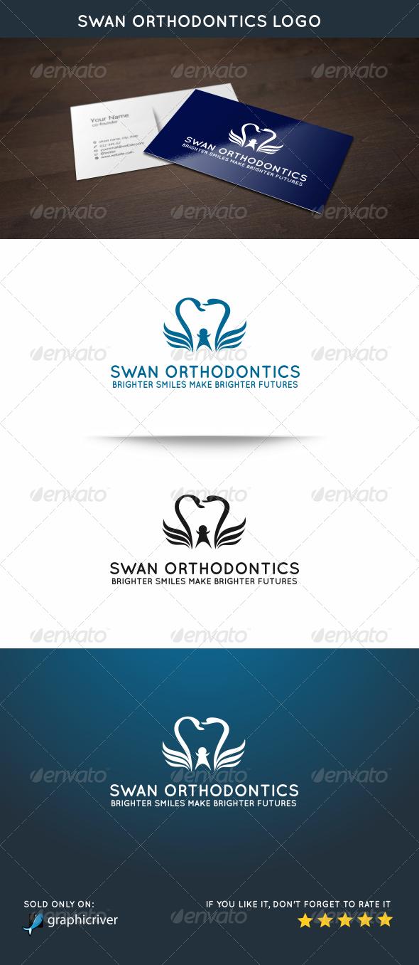 Swan Orthodontics Logo - Animals Logo Templates