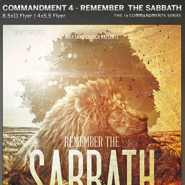 Remember the Sabbath: Church Flyer Template