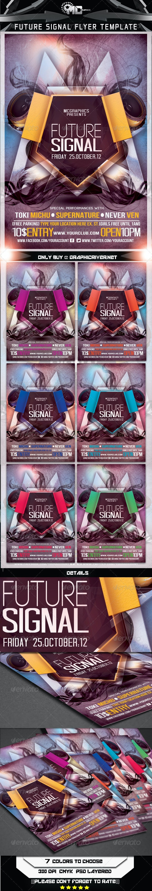 Future Signal Flyer Template - Clubs & Parties Events