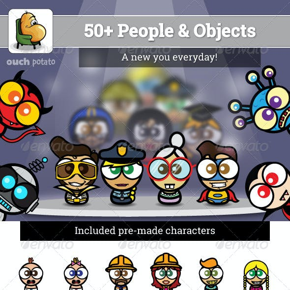 50+ People and Objects