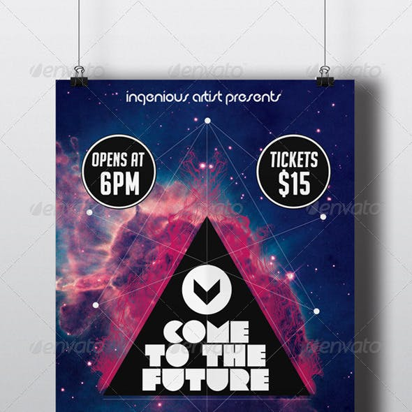 Come to the Future (Flyer + Timeline)