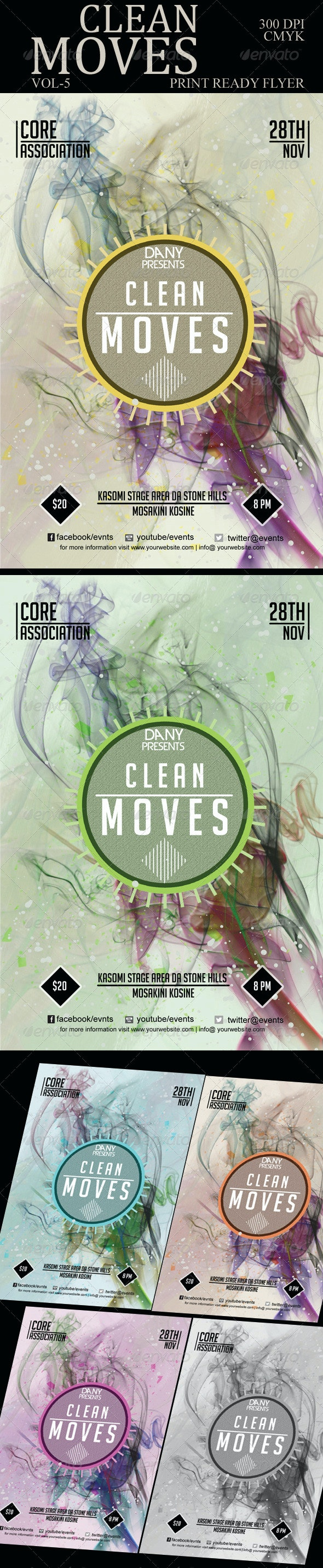 Clean Moves Flyer 5 - Clubs & Parties Events