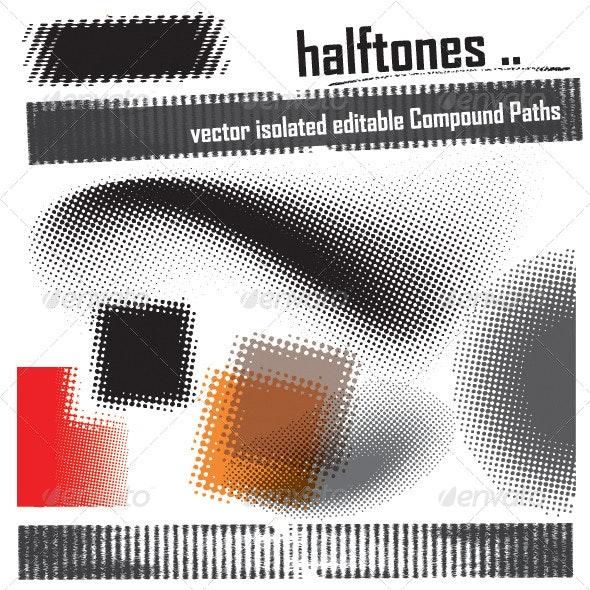 Set of Vector Halftone Elements - Miscellaneous Vectors