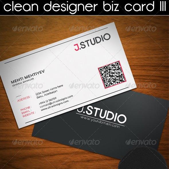 Clean Designer Business Card III