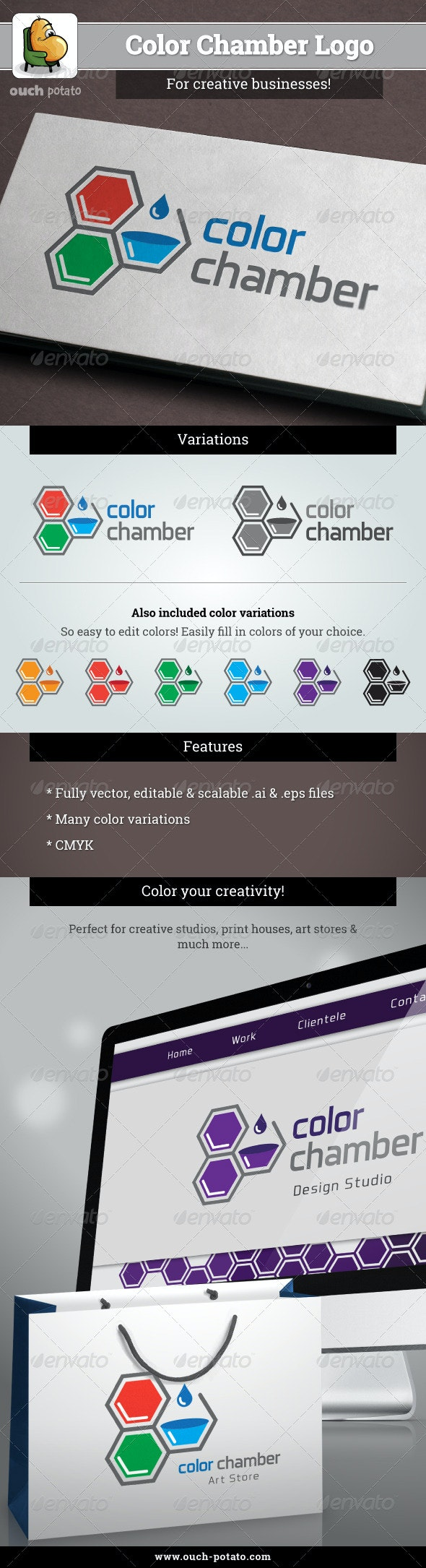 Color Chamber Logo  - Objects Logo Templates