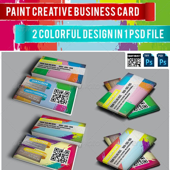 Paint Creative Business Card