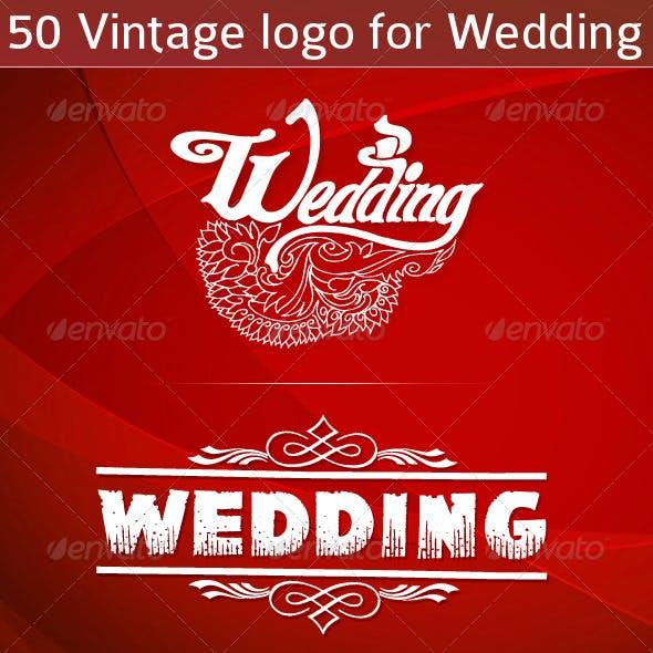 Vintage Logo for Wedding