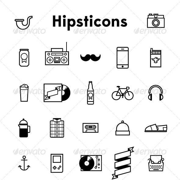 Hipsticons - Artisan Hipster Icon Set