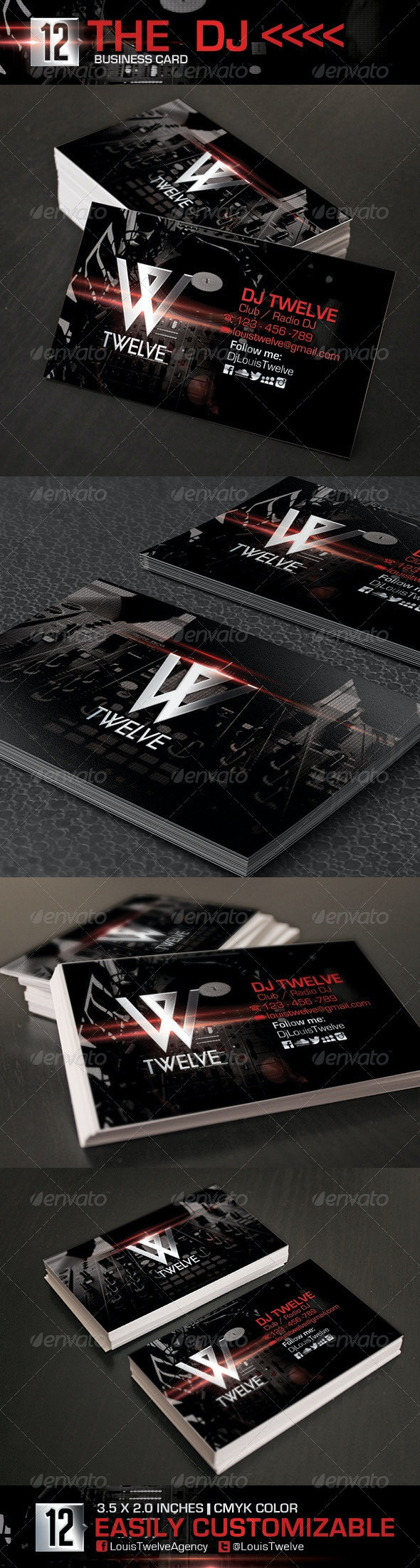 The Dj | Business Card - Industry Specific Business Cards